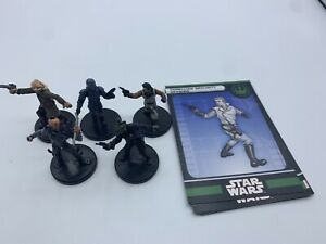 Star-Wars-Miniatures-Lot-of-5-LEGACY-OF-THE-FORCE-WITH-CARDS