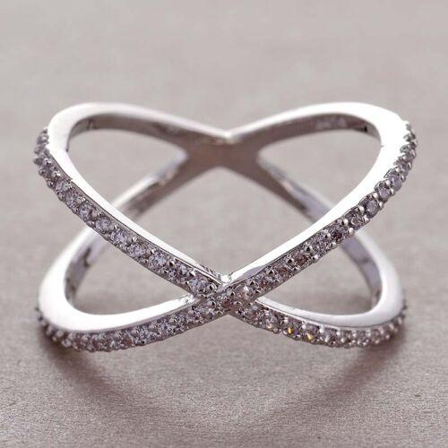 Vintage 18K Gold Blue Sapphire Eternity Ring Wedding Party Women Men/'s Jewelry