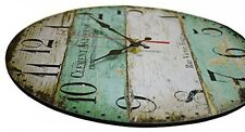 "10"" Shabby Chic Style Arabic Numerals Design Wooden Round Decorative Wall Clock"
