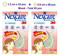 3M Nexcare ACNE CARE Patches / Stickers 2 packs - 92 pcs (Combo 0.8cm+1.2cm)