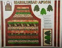 Glistening Christmas Metallic Apron 100% Cotton Canvas Fabric By The Panel