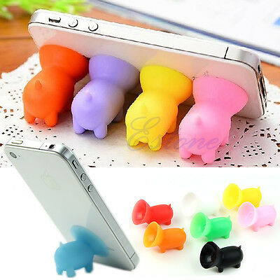 Universal Cute Pig Suction Cup Plunger Holder Mini Smart Mobile Phone Stands New