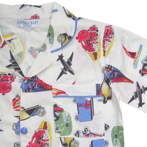 amp; Powell retro Pijama De trenes Daniel Craft 100 Coches Aviones Algodón 70aq10w