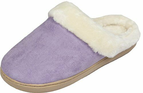 LUXEHOME Womens Cozy Fleece House Footwear Slippers1 08 XL 8 9 US Light Purple