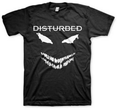 New Disturbed Band White Scary Face Heavy Metal Shirt SML-2XL badhabitmerch