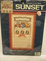 Sunset Welcome Calendar 1998 Stamped Cross Stitch Kit