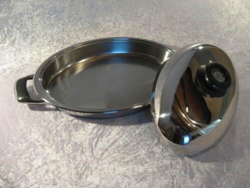 auch für Induktion AMC Ovaler Bräter mit Visiotherm-Deckel 3,5 L