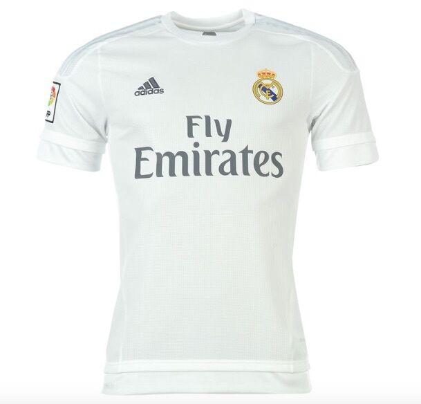 Adidas Casa Maglia Real Madrid 2015 2016 attuale maglia nuovo con etichetta