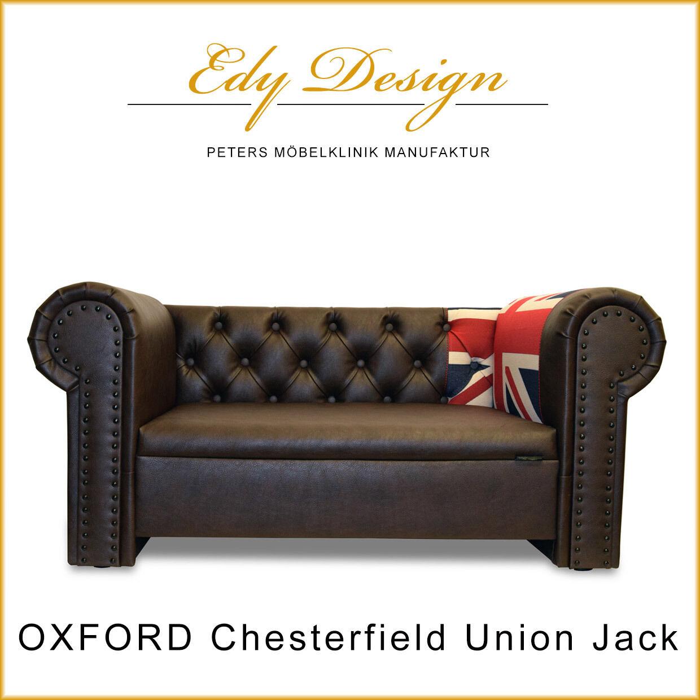 Hundesofa Dog Bed OXFORD Chesterfield Union Jack XXL Vintage Design HANDMADE NEU