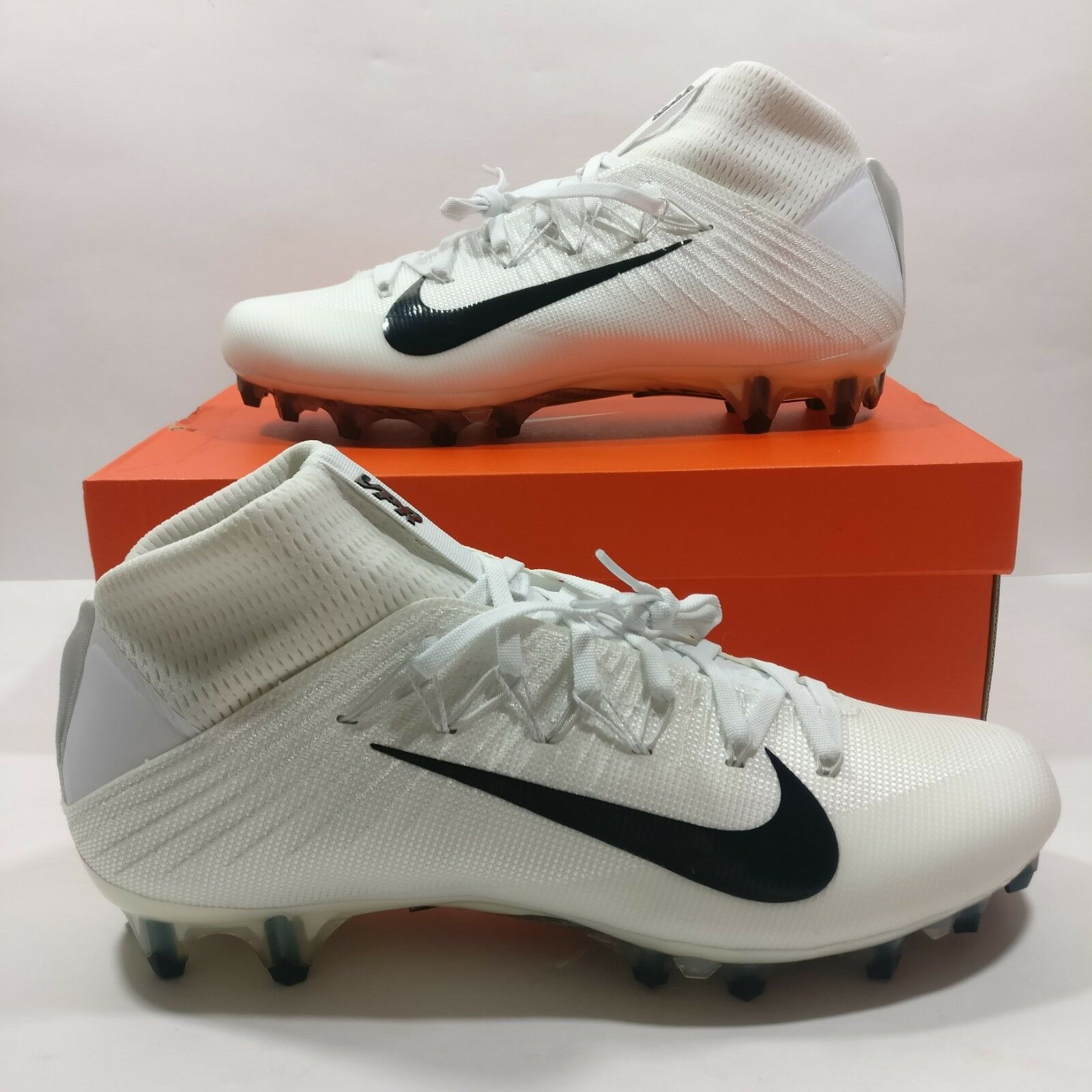 Nike Vapor Untouchable 2 CF Football Cleats Stivali White Nero Size 12 924113-101