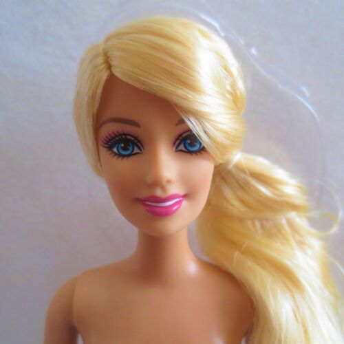 NEW Barbie Doll ~ Blue Eyes Blonde Hair Side Ponytail ~ Articulated Arms NUDE