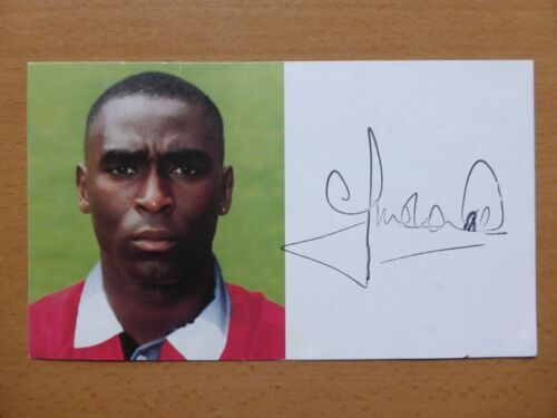 199698 Andy Cole Signed Man Utd Club Card C 6564