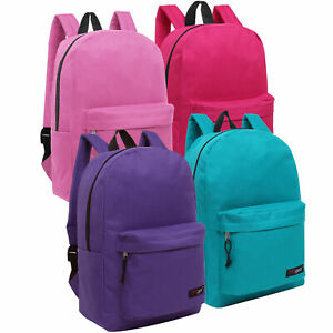 Details About Bulk Case Of 24 Mggear Pastel Color 16inch Book Bags Whole Backpacks Kids