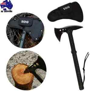 Stainless-Steel-Axe-Hatchet-Blade-Knife-Camping-Hunting-Outdoor-Wood-OKNI33005