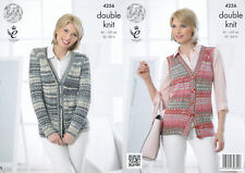 Womens Double Knitting DK Pattern King Cole Cable Knit