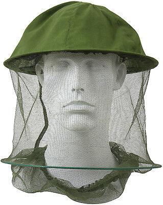Olive Drab Mosquito Hat Insect Head Net Hoop Mesh Repellent Bugs Flies Bees