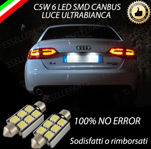 COPPIA LUCI TARGA 6 LED AUDI A4 B8 CANBUS 100% NO AVARIA LUCI