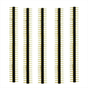 New-5-Pcs-Plastic-2-45mPitch-40-Position-Single-Row-Round-Male-Pin-Header