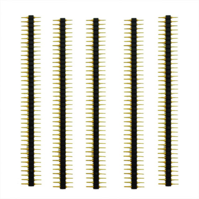 New 5 Pcs Plastic 2.45mPitch 40 Position Single Row Round Male Pin Header