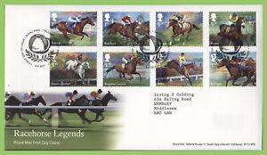 Conjunto-de-leyendas-de-Graham-Brown-2017-caballo-de-carreras-en-Royal-Mail-First-Day-Covers