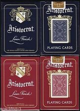 4 DECKS ARISTOCRAT BANK NOTE 727 BLUE & RED PLAYING CARDS BY THEORY11 NEW