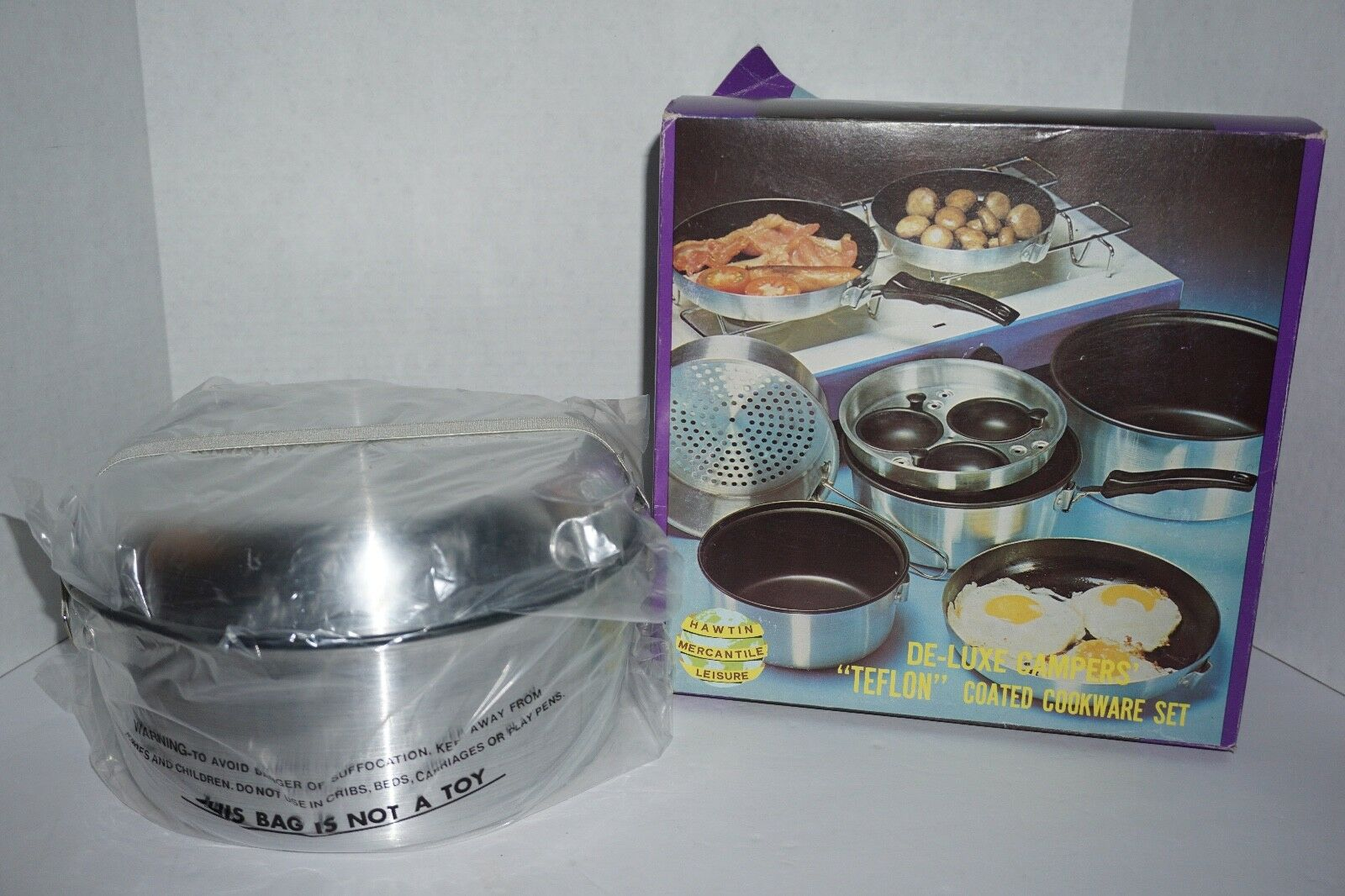 NEW Vintage Outdoors 13 Pc Deluxe Campers Portable Teflon Cookware Set Camping