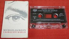 MICHAEL JACKSON - RARE UK CASSETTE TAPE SINGLE - YOU ROCK MY WORLD