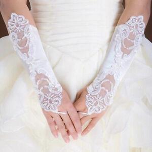 Fingerless-White-Bridal-Wedding-Pearl-Gloves-Free-P-amp-P
