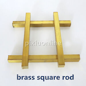 1pc J092 Brass Square Rod Model Car Carriage Connecting Rod Robot Making DIY