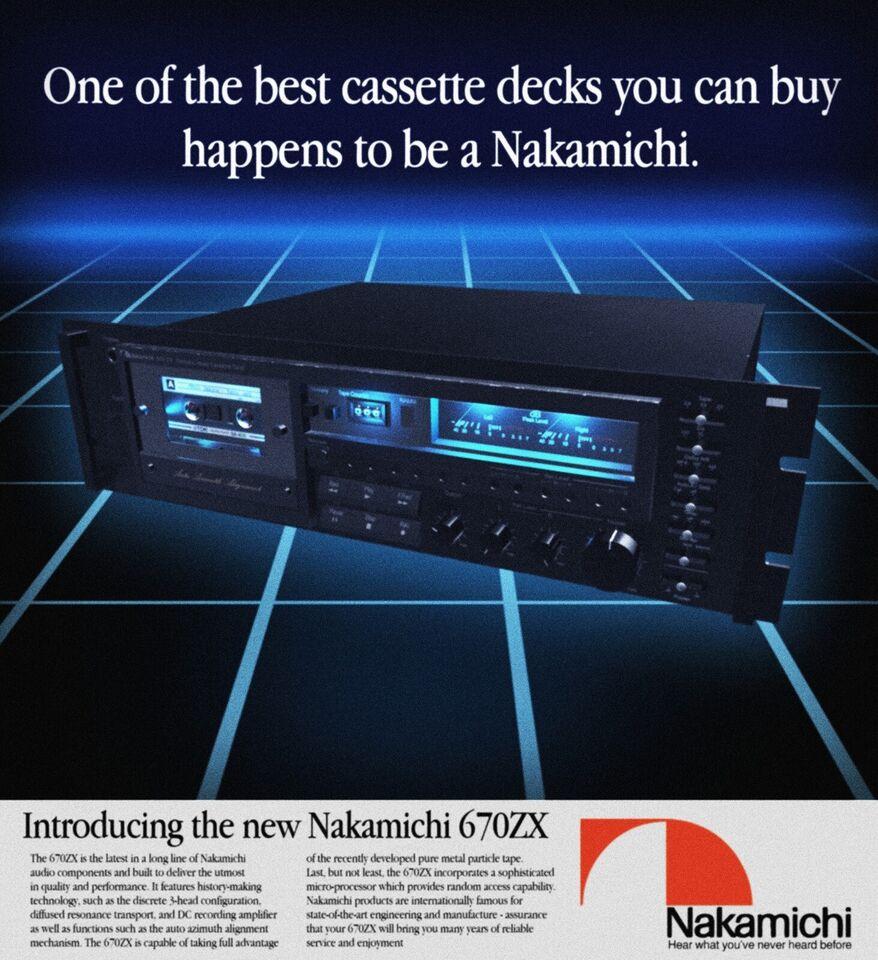 Båndoptager, Nakamichi, 670ZX