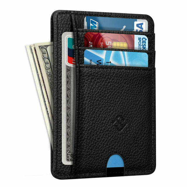 Mens RFID Blocking Leather Wallet Coin Clip Money Credit Card Holder Pocket new