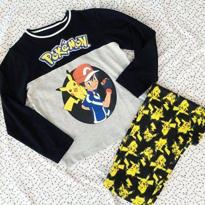 Bnwt Ragazzi Ufficiale Pokemon Pikachu & Ash Pigiama Nightwear Set (11-12 Anni)-mostra Il Titolo Originale
