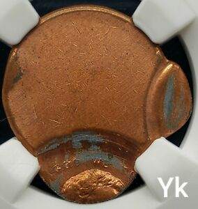 DOUBLE STRUCK FLIP OVER LINCOLN CENT MINT ERROR MISTAKE NGC MS65 RD BEAUTIFUL