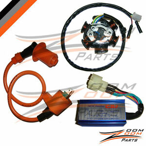 gy pole stator coil cdi box ignition coil cc performance image is loading gy6 150 6 pole stator coil cdi box