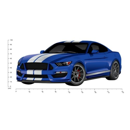 Blue Sports Car Wall Sticker WS-41144
