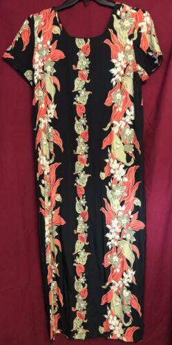Liberty House Hawaiian Long Dress sz.L Vintage