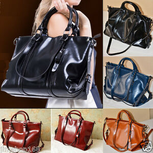 Women-Leather-Handbag-Tote-Purse-Shoulder-Bag-Messenger-Crossbody-Satchel