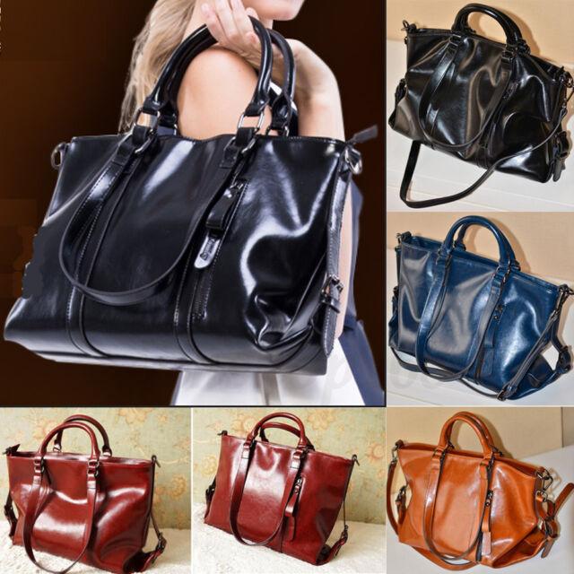Women Leather Handbag Tote Purse Shoulder Bag Messenger Crossbody Satchel