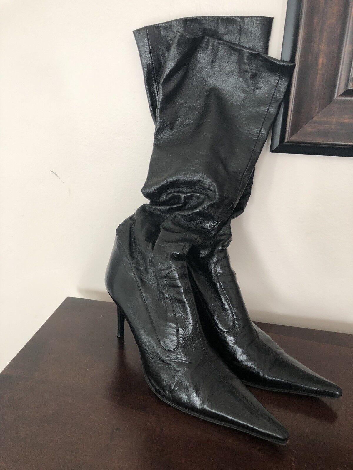 Barneys New York Noir Bottes en cuir, 38,5