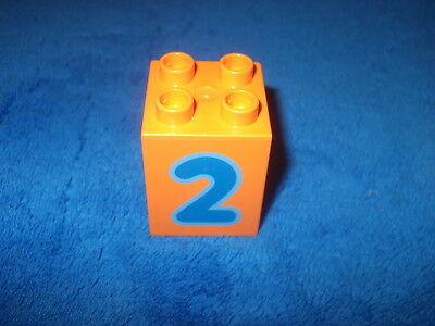 6 Baustein 4er Noppen Stein Hoch Zahl Lego Duplo 1 X Sonderstein Zahlenstein Nr