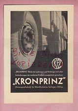 SOLINGEN-OHLIGS, Werbung 1937, AG Metallindustrie KRONPRINZ LKW-Anhänger-Räder