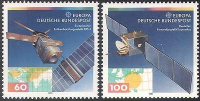 Germany 1991 Europa/Europe in Space/Communication Satellites/Maps 2v set (b285)