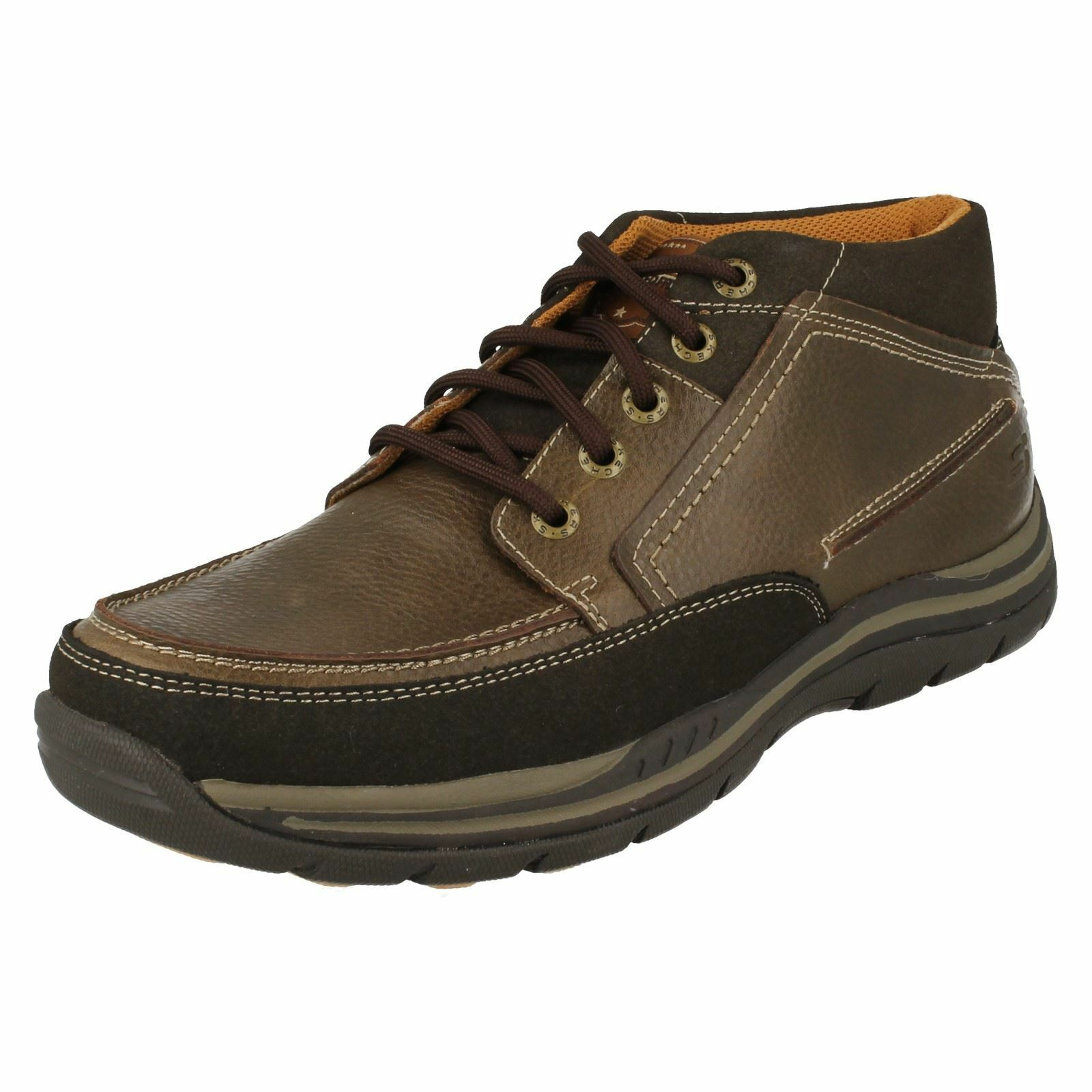 Mens Skechers Relaxed Fit Memory Foam Ankle Boots 'Cason'