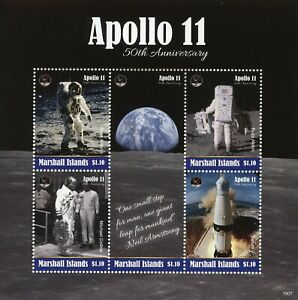 Marshall-Islands-2019-MNH-Apollo-11-Moon-Landing-Armstrong-5v-M-S-Space-Stamps