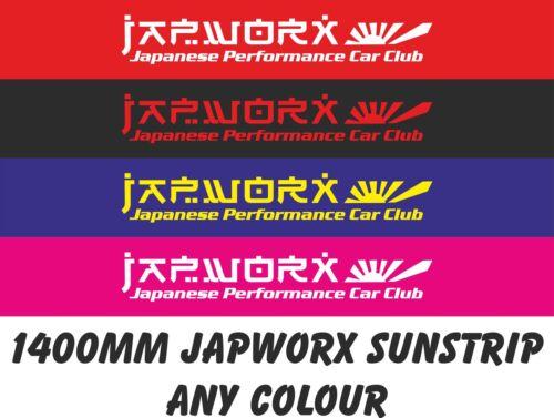 JAPWORX JAPANESE PERFORMANCE CAR CLUB SUN STRIP CAR STICKER jdm decal sunstrip 2