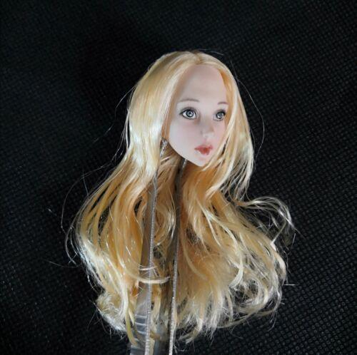 1//6 Female Head Sculpt Blonde Hair Anime Loli Girl F 12/'/' Action Figure Body