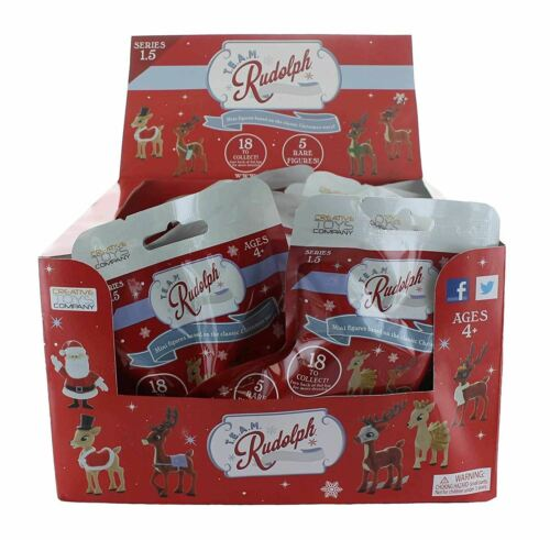 Team Rudolph Renna dal naso Rudolph Mini figura SERIE 1.5-18 Pezzo Rosso