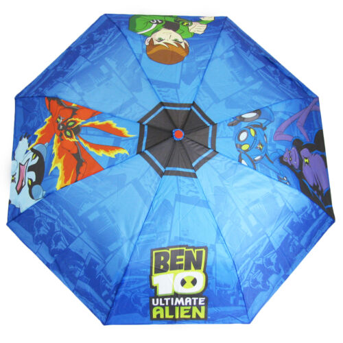Ben 10 Kids Umbrella Perletti Ultimate Alien Boys Brolly Rain Childrens Blue