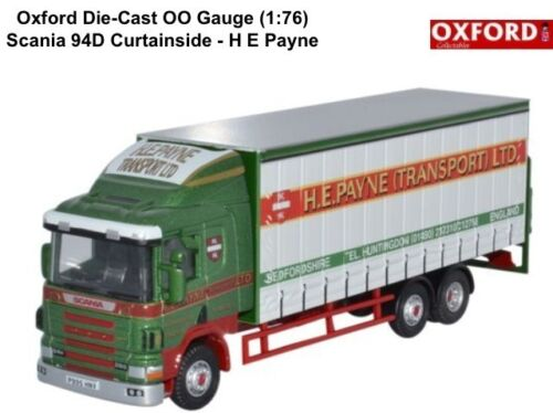 Oxford 76s94002 Scania 94d Curtainside starr H E Payne NEU 1:76 Maßstab Angebot Autos