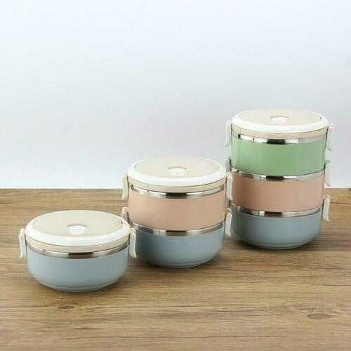 1//2//3//4 Layers Stainless Steel Thermal Insulated Lunch Box Bento Food Container